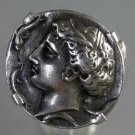 *POLY*Silver ring with ancient greek coin C044