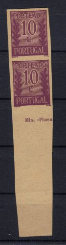 PORTUGAL 1940 PROOF MNH without gum IMPERFORATED S00278