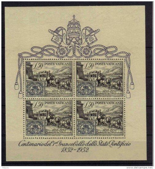 VATICAN 1952 MINT SCARCE FIRST SOUVENIR SHEET S00061