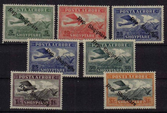 ALBANIA 1925 OLD AIRMAIL SET MLH - S00063