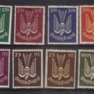 GERMANY 1922 AIR MLH 50pf to 200MARKS GOOD CLEAN LOT