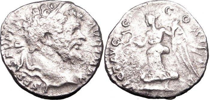 *POLY* Roman Septimius Severus AR Denar 17m 2.5g C005