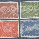 GERMANY 1960 Olympic Games set of 4 MNH - S00274
