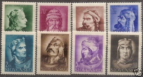 SLOVACCHIA-1944 State anniversary 8 stamps MNH - S00204