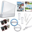 "Nintendo Wii ""Ski Fun"" Bundle- We Ski, Wheels, Gun, and More"