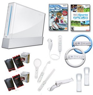 "Nintendo Wii ""Ski Mega"" Bundle- We Ski, Controllers, Gun, and More"