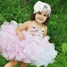 Knitted Halter Tutu with Hat