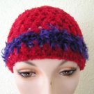 Sparkly Red Hand-Crocheted Hat