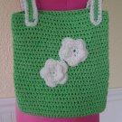 Beautiful green and white purse