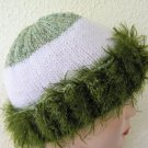 Green & white striped hat