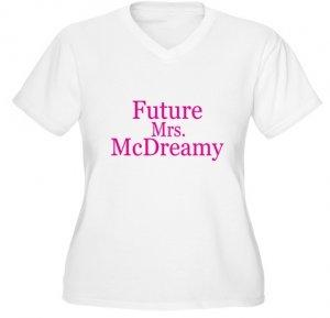 Future Mrs. McDreamy Women's Plus Size V-Neck T-Shirt