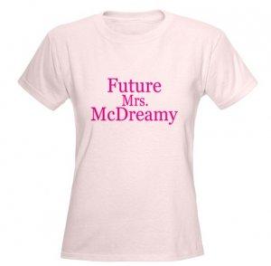 Future Mrs. McDreamy Women's Pink T-Shirt
