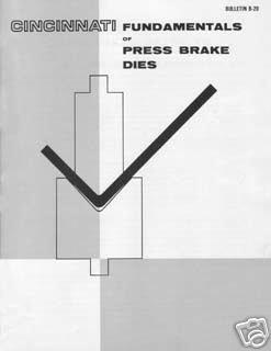 Cincinnati Fundamentals of Press Brake Dies