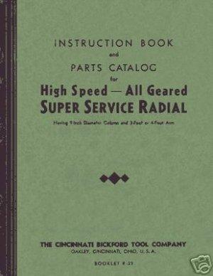 Cincinnati-Bickford 9 Inch Column Radial Drill Manual