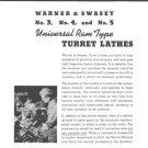 Warner & Swasey No. 3, 4, 5 turret lathe service manual