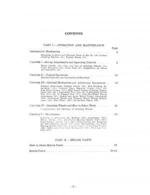 Brown & Sharpe 510 Maintenance Ops. & Parts Manual