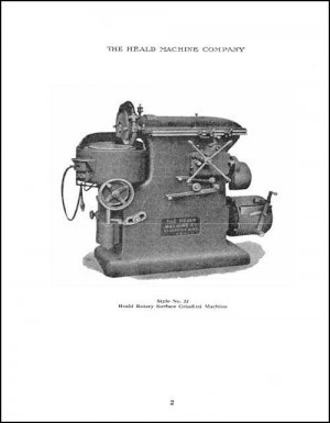Heald No. 22 Rotary Surface Grinding Machine Manual