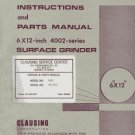 Clausing 6 x 12 4002 Series Surface Grinder Manual 1974