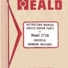 Heald 273A Operation, Service and Repair Parts Manual