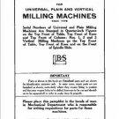 Brown And Sharpe Milling Machines Repair Parts Manual