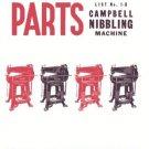 Campbell 1B Nibbling Machine Parts Manual