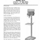 Rockwell Delta 15 Inch 6 plus 6 Drill Press Manual