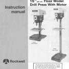 Rockwell 15 Inch 15-090 & 15-091Drill Press Manual
