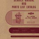 Cincinnati No. 1 Cutter & Tool Grinder Service Manual