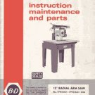 Dewalt 12 Inch Radial Arm Saw Manual Bulletin 2544-4