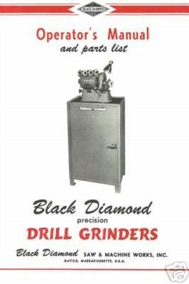 Black Diamond Operator and Parts Manual