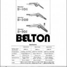 Belton B-10A B-20B B-30S Instruction & Parts Manual