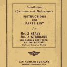 Van Norman No. 2 Heavy and No. 3 Standard Manual