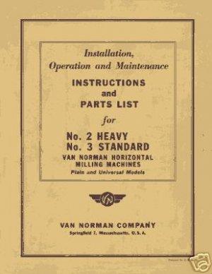 Van Norman No. 2 Heavy and No. 3 Standard Manual