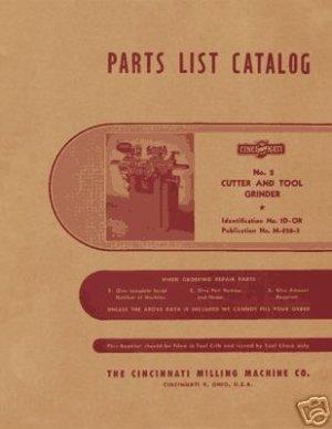 Cincinnati Number 2 Cutter And Tool Grinder Manual