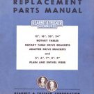 Kearney & Trecker Rotary Tables and Vises Parts Manual