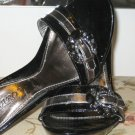 Size 7: EMBOSSED JEWELS METAL STILETTO ITALY HEELS