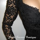 SIZE S: VINTAGE SHEER WIGGLE BODYCON CORSET LACE DRESS