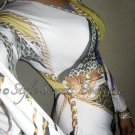Size S: SEXY DESIGNER MIXED CACHE PRINTS DOLMAN SLEEVES BODYCON DRESS