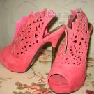 SIZE 7: LASER CUT PINK BOOTIES BOOTS