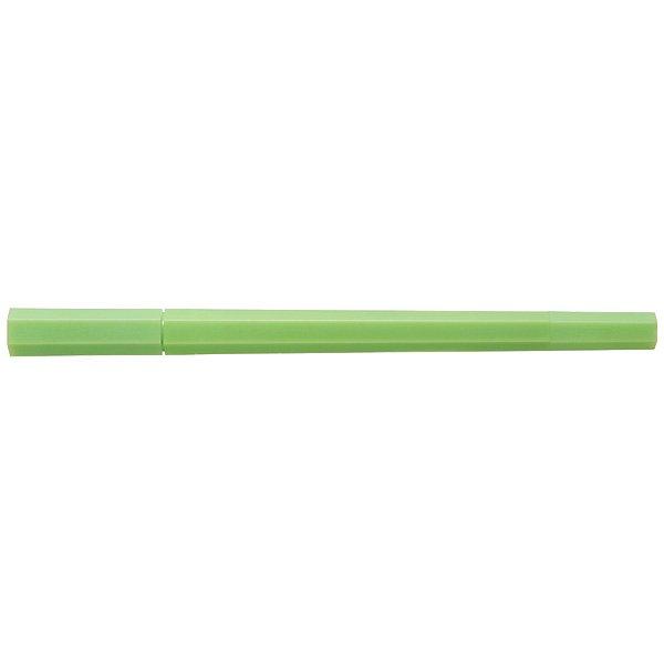 MUJI Japan Double Ended Hybrid Pen HEXAGONA - Yellow Green