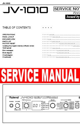 ROLAND JV-1010 ** SERVICE MANUAL **