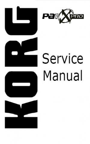 KORG Pa1x  Pro ** SERVICE MANUAL **