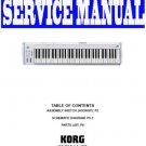 KORG  K61 MIDI KEYBOARD- SERVICE MANUAL