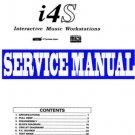 KORG i4s i-4S  Interactive Workstation SERVICE MANUAL