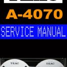 TEAC  A-4070  A4070 Reel-to-Reel  -= Service Manual =-