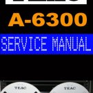 TEAC  A6300 A-6300  Reel-to-Reel  -= Service Manual =-