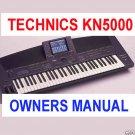 TECHNICS KN-5000 sxKN5000 sx-kn5000 * OWNERS  MANUAL *