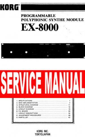 KORG ex-8000 EX8000 rack unit ** SERVICE MANUAL **