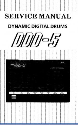 KORG DDD-5 Drum unit   ** SERVICE MANUAL **