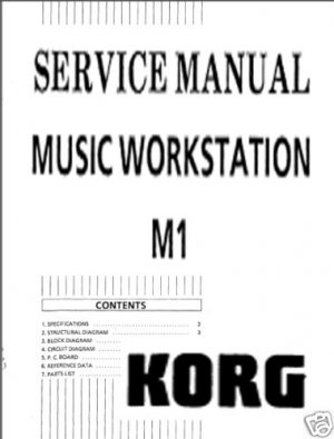 KORG M1 SYNTHESIZER * * SERVICE MANUAL **